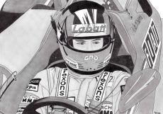 Dessin Gilles Villeneuve de Adrien72140