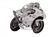 Dessin Max Biaggi   Moto GP de Adrien72140