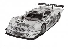 Dessin Mercedes Benz CLK GTR '98 de Adrien72140