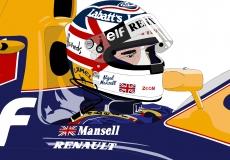 Dessin Nigel Mansell couleur de Adrien72140