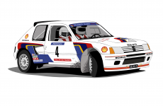 Dessin Peugeot 205 Turbo 16 couleur de Adrien72140