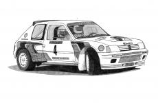 Dessin Peugeot 205 Turbo 16 de Adrien72140