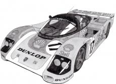 Dessin Porsche 962 de Adrien72140