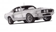 Dessin Shelby GT500 de Adrien72140