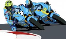 Dessin Suzuki Moto GP couleur de Adrien72140