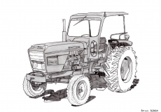 Dessin Tracteur Renault 88 de Adrien72140