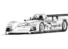 Dessin TWR Porsche LMP1 de Adrien72140