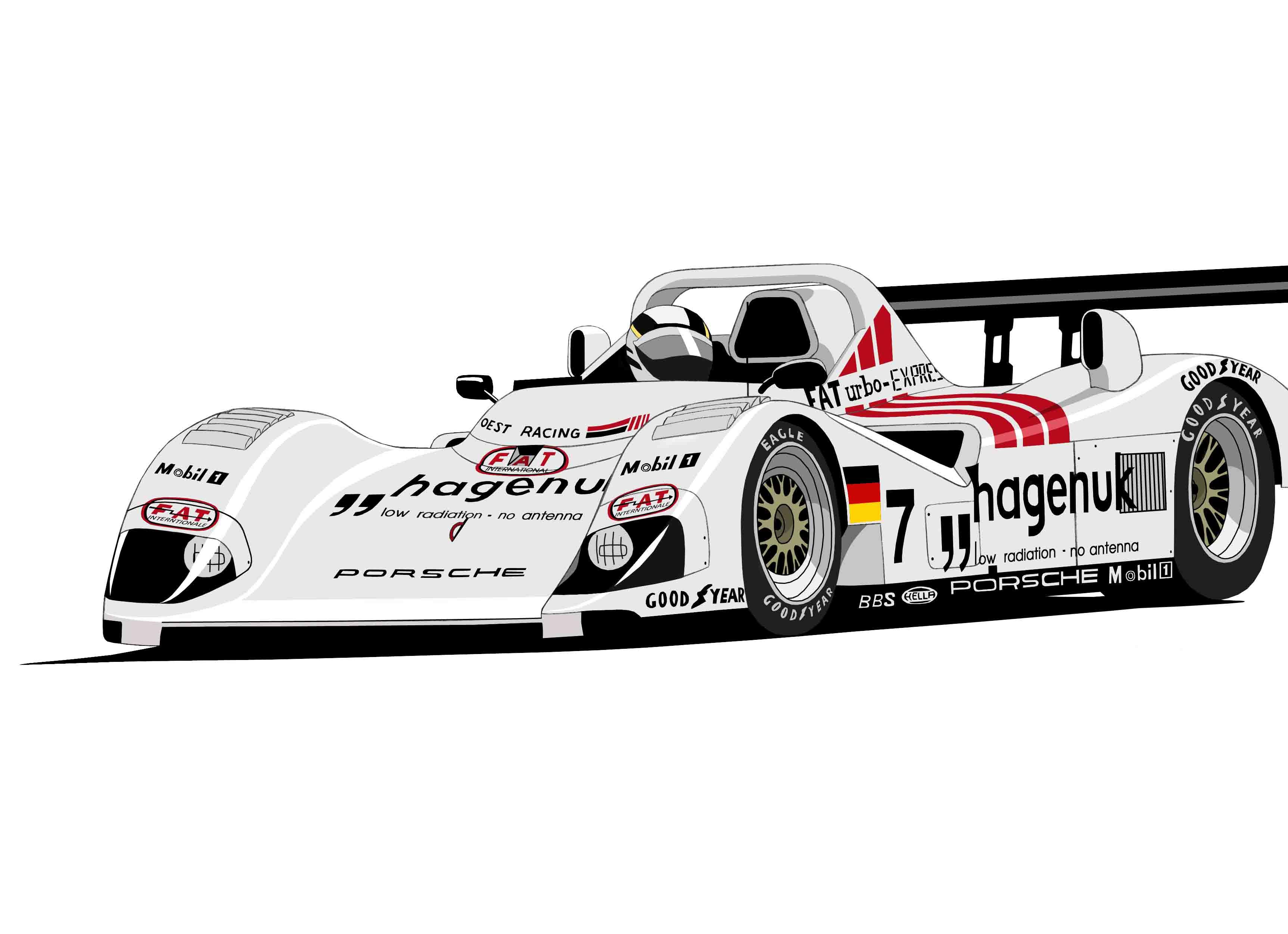 Dessin TWR Porsche LMP1 couleur de Adrien72140