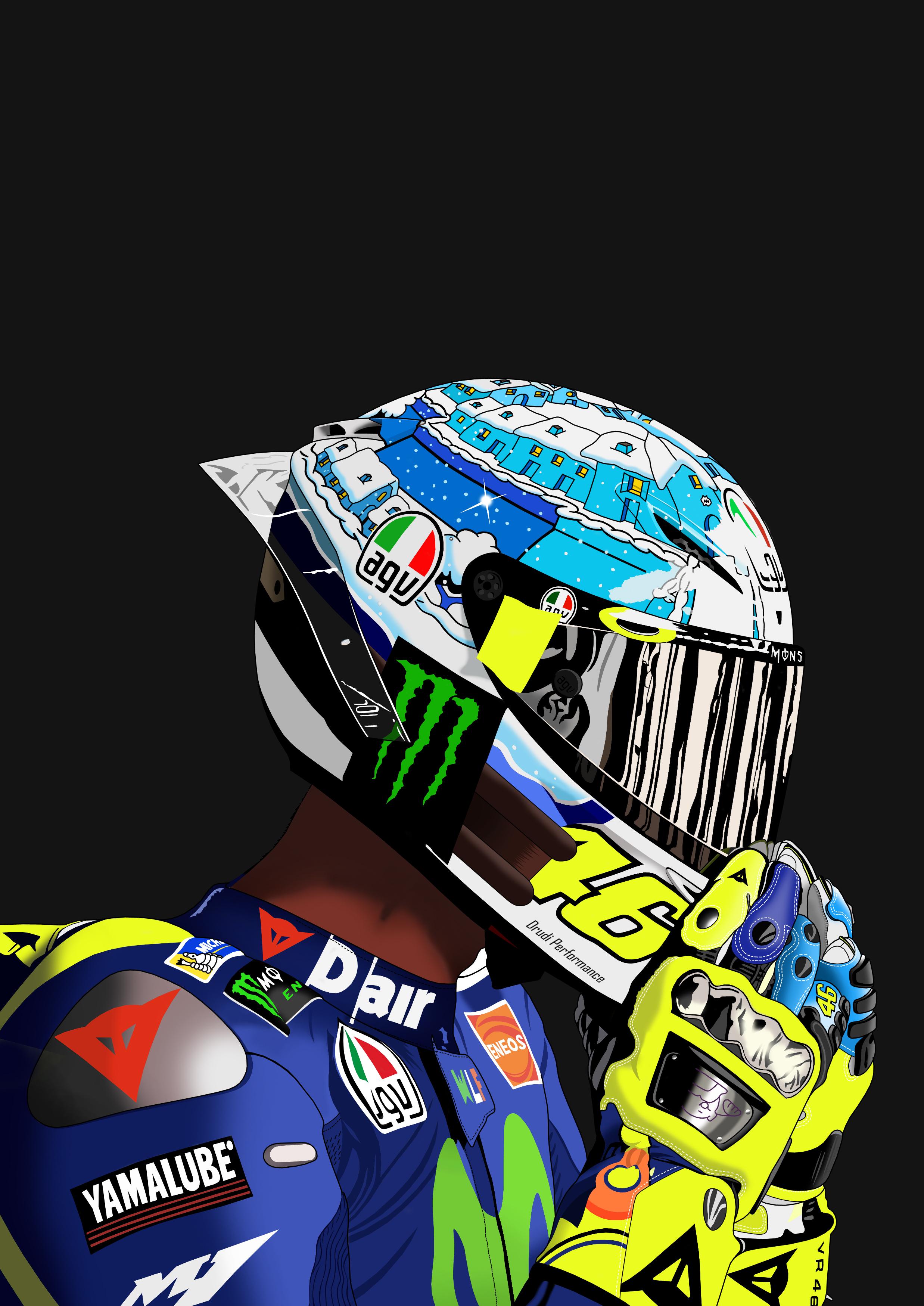 Dessin Valentino Rossi couleur de Adrien72140