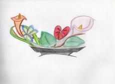 Dessin Composition florale de Captainred